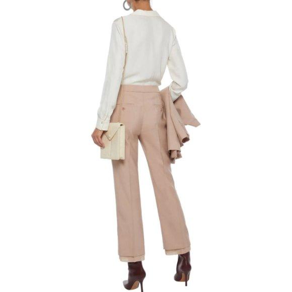 Max Mara Chiffon Trimmed Mohair Silk Blend Trouser